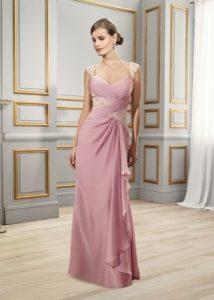 Нарядное платье с драпировкой 012