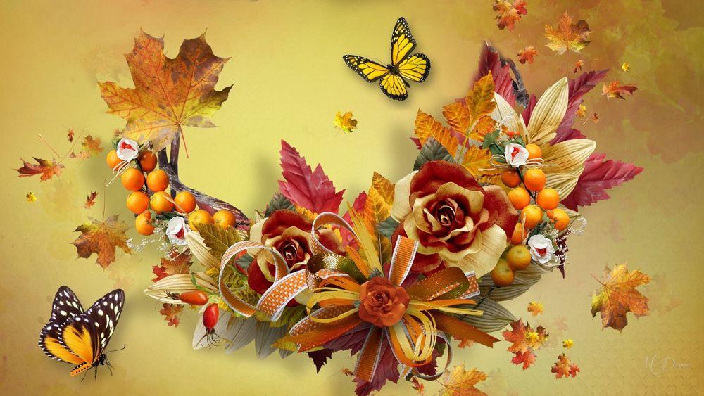 Обои для рабочего стола осенние цветы   скачать бесплатно (5)
