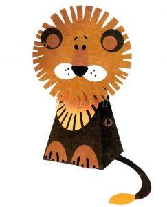 Поделка лев для детей 019