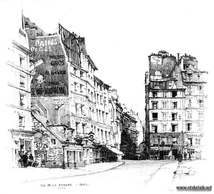 Рисунок парижа карандашом 018