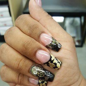 Стимпанк ногти 018