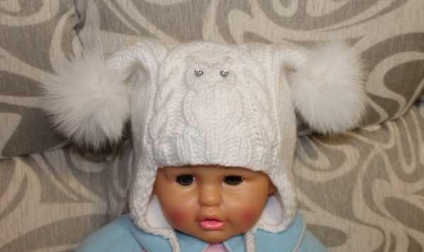 Схема вязания спицами детской шапки 001