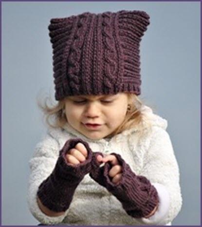 Схема вязания спицами детской шапки 003