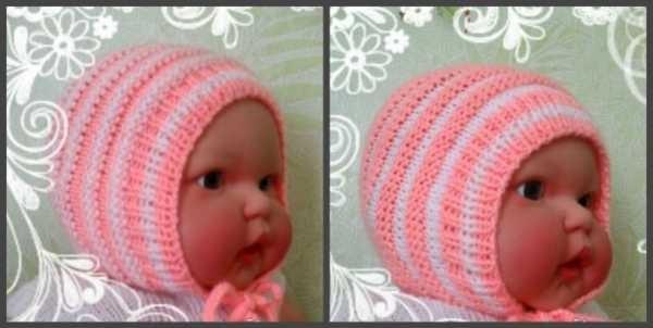 Схема вязания спицами детской шапки 004