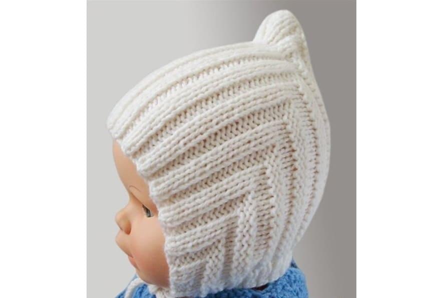 Схема вязания спицами детской шапки 006