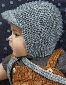 Схема вязания спицами детской шапки 009