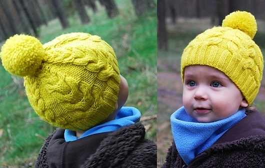 Схема вязания спицами детской шапки 012