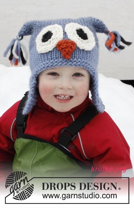 Схема вязания спицами детской шапки 018