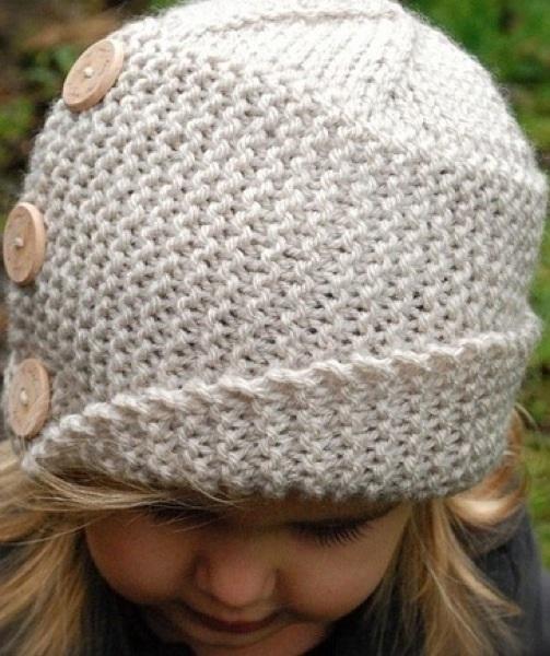 Схема вязания спицами детской шапки 020
