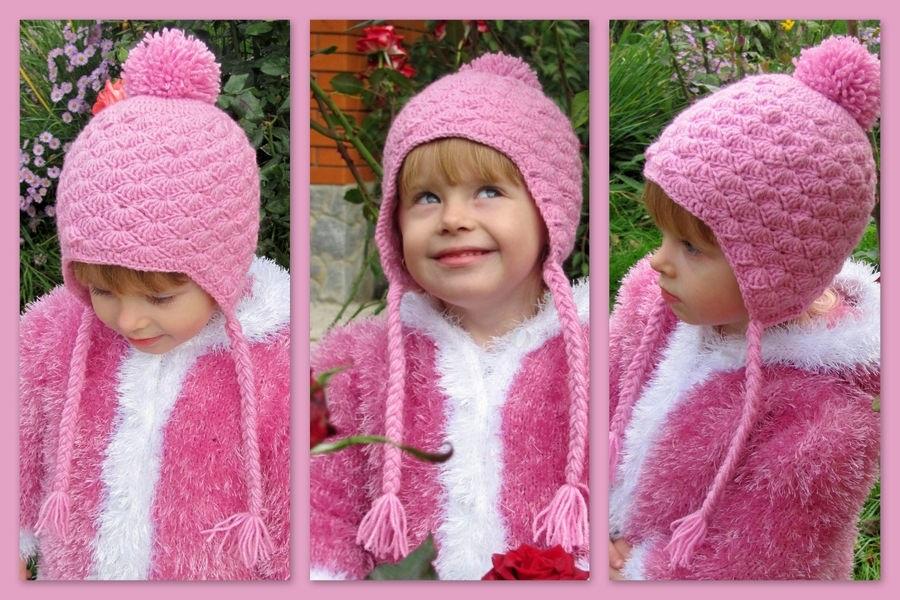 Схема вязания спицами детской шапки 023