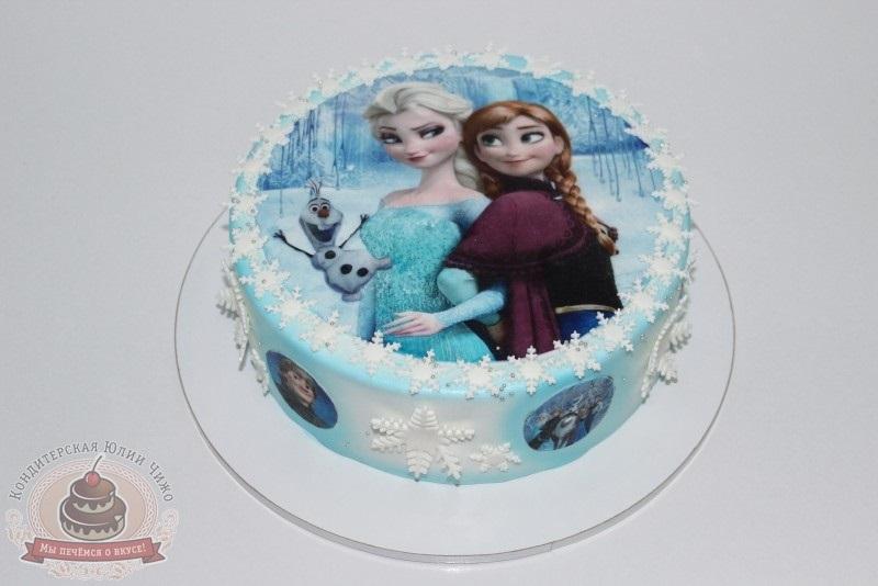 торт анна и эльза холодное сердце фото являетесь