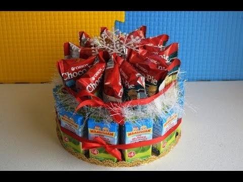 Торт на новый год из конфет своими руками 003