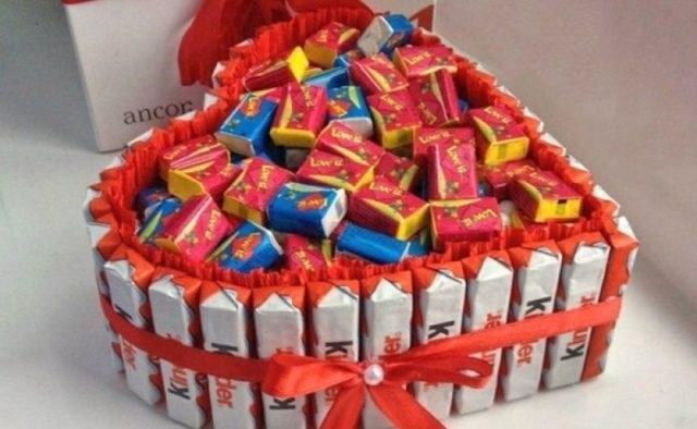 Торт на новый год из конфет своими руками 005