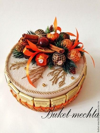 Торт на новый год из конфет своими руками 006