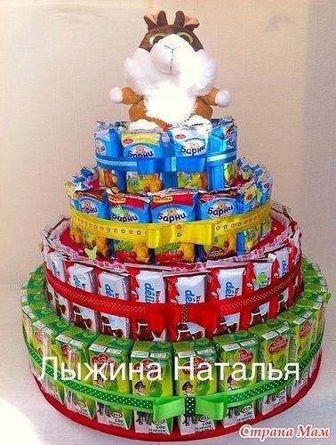 Торт на новый год из конфет своими руками 008