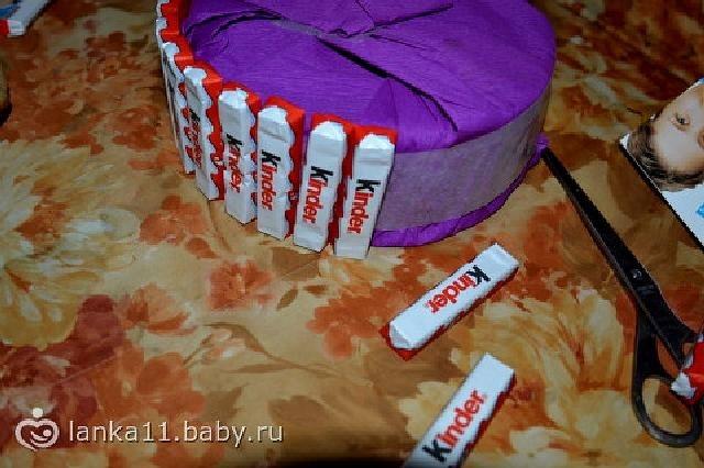 Торт на новый год из конфет своими руками 009