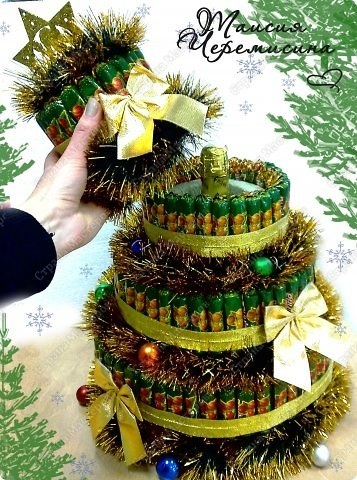 Торт на новый год из конфет своими руками 010