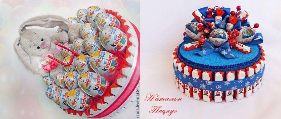 Торт на новый год из конфет своими руками 014