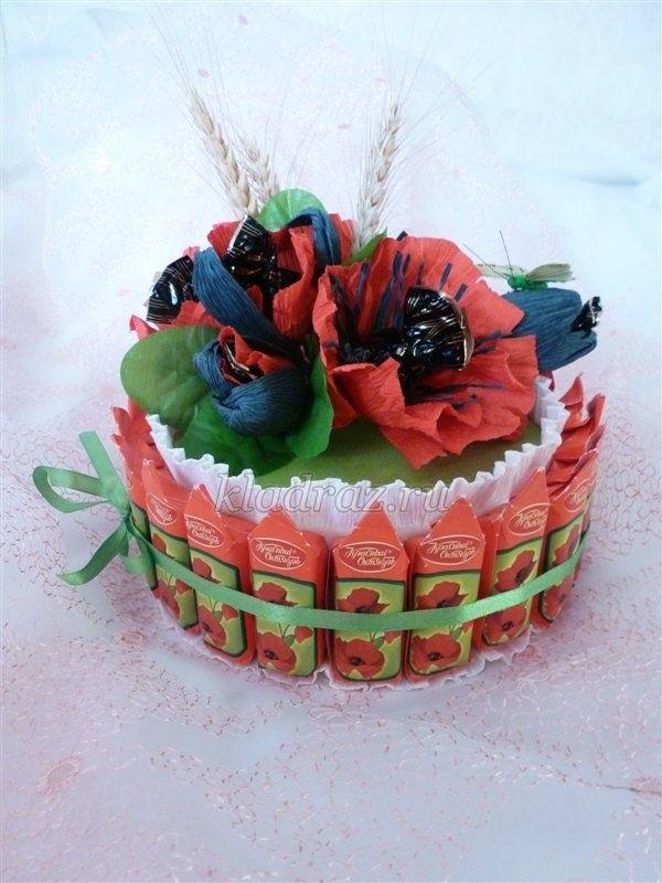 Торт на новый год из конфет своими руками 017