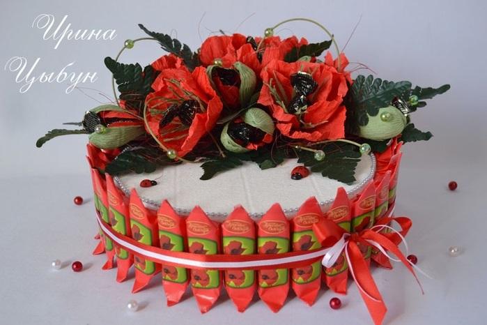 Торт на новый год из конфет своими руками 018