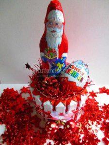 Торт на новый год из конфет своими руками 019