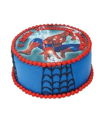 Торт с картинкой человек паук фото 001