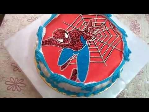 Торт с картинкой человек паук фото 002