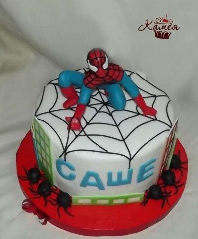 Торт с картинкой человек паук фото 003