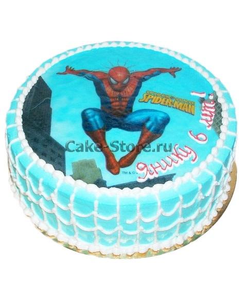 Торт с картинкой человек паук фото 007
