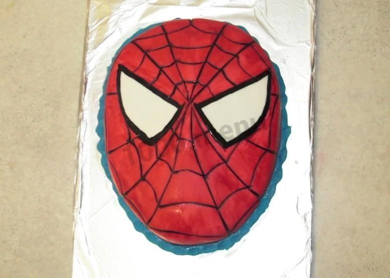 Торт с картинкой человек паук фото 008