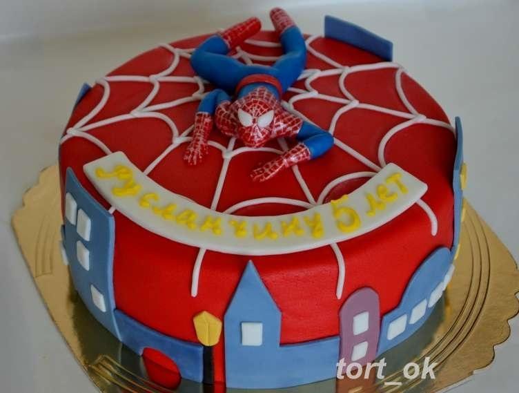 Торт с картинкой человек паук фото 009