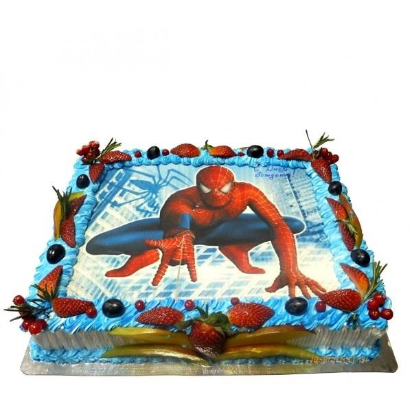 Торт с картинкой человек паук фото 011