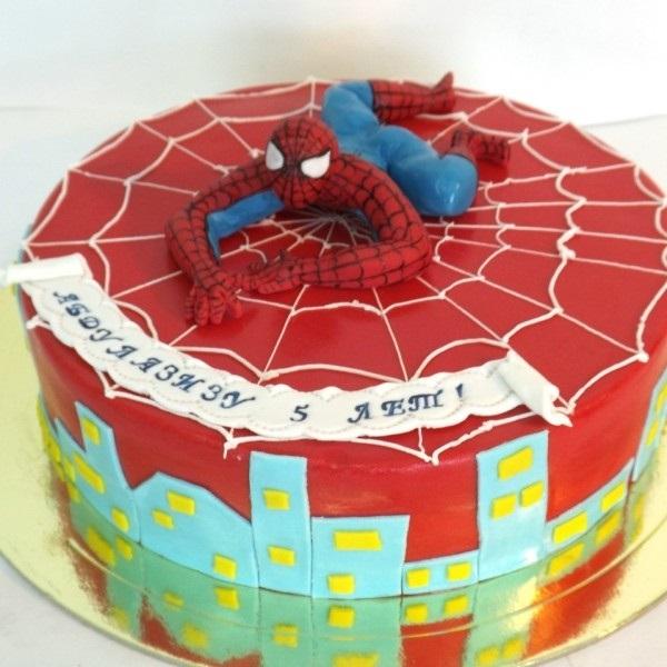 Торт с картинкой человек паук фото 013