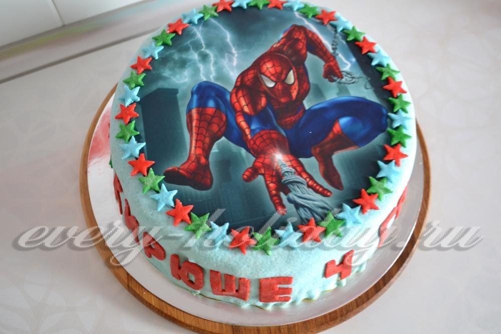 Торт с картинкой человек паук фото 015