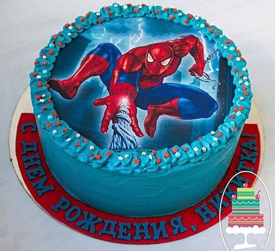 Торт с картинкой человек паук фото 016