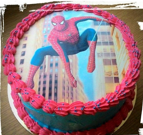 Торт с картинкой человек паук фото 017