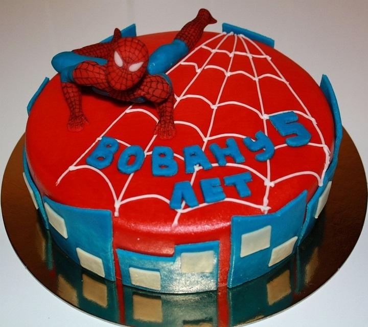 Торт с картинкой человек паук фото 020