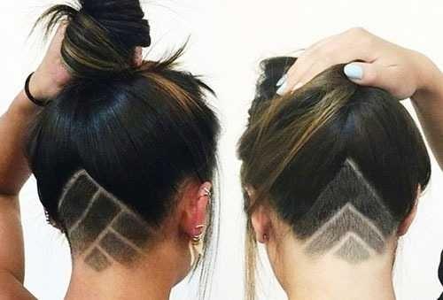 Узоры на женских волосах 001