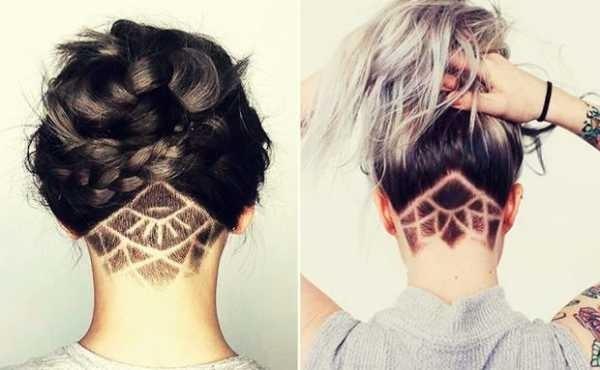 Узоры на женских волосах 004