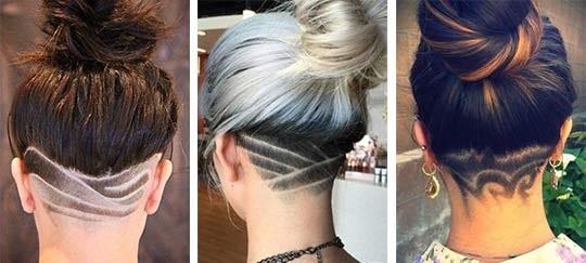 Узоры на женских волосах 007