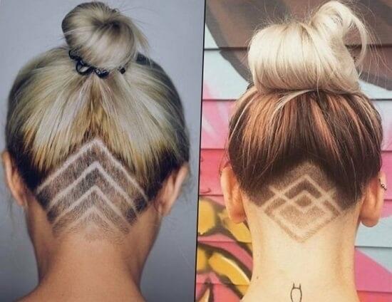 Узоры на женских волосах 008