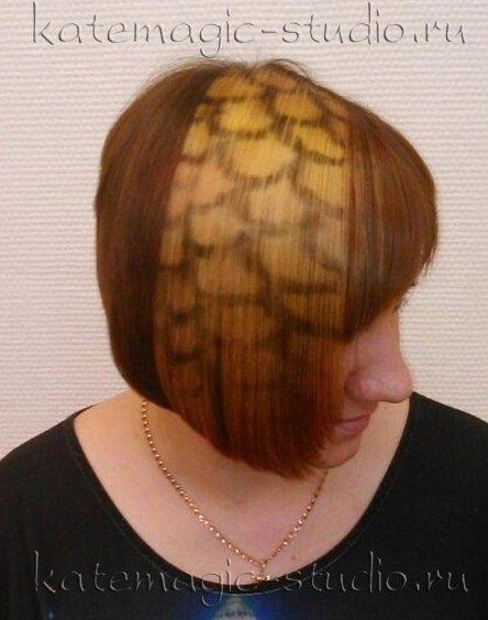 Узоры на женских волосах 009