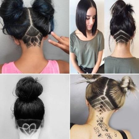 Узоры на женских волосах 010
