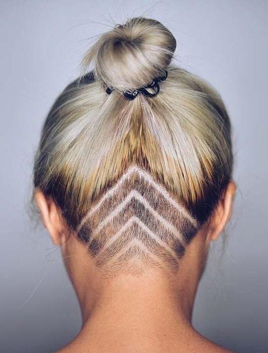 Узоры на женских волосах 013