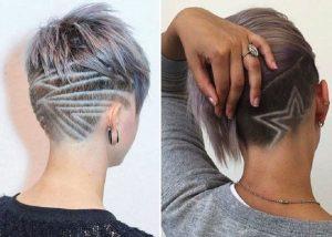 Узоры на женских волосах 014