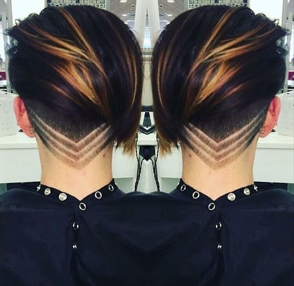 Узоры на женских волосах 018