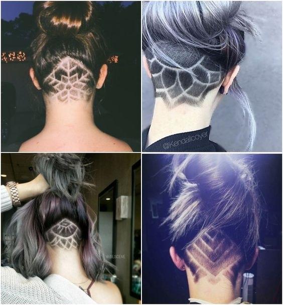 Узоры на женских волосах 019