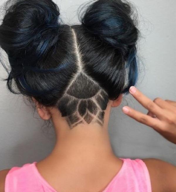 Узоры на женских волосах 020