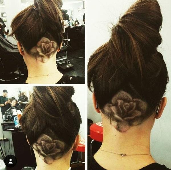 Узоры на женских волосах 021