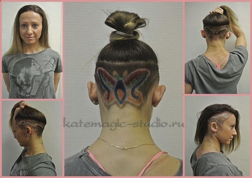 Узоры на женских волосах 024